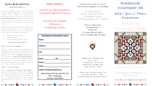2021 MO Hwy 36 Quilt Trail Passport